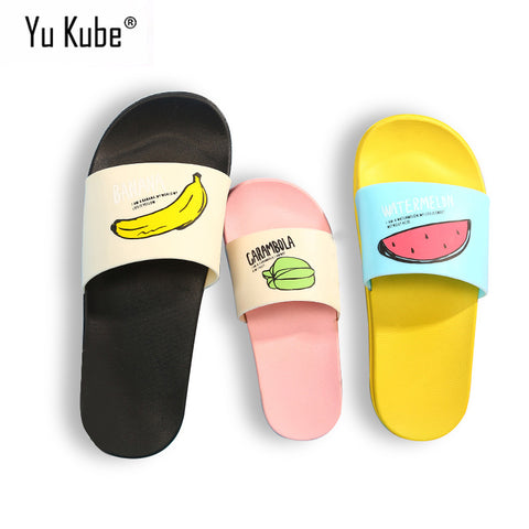 Yu Kube 2018 New Women Slippers Fashion Summer lovely Ladies Casual Slip On Fruit jelly Beach Flip Flops Slides Woman Shoes