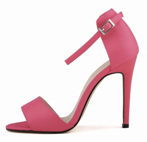 Open Toe Ankle Strap High Heel Sandals With Matte Finish GSS1127