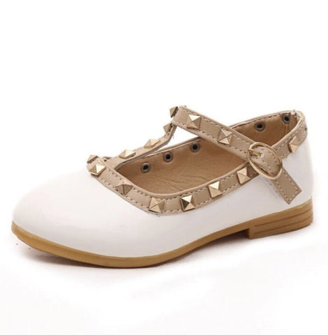 Girls Studded Rivet Shoes