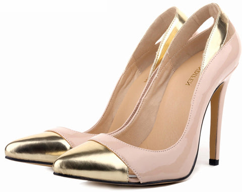 Gold Toe Stilettos