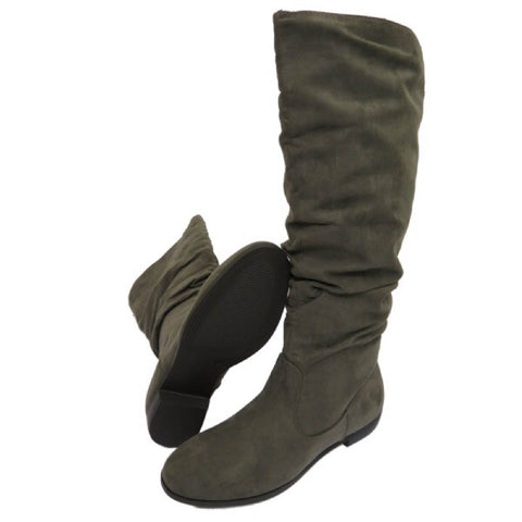Gorgeous Ruched Effect Knee High Boots GSS1146