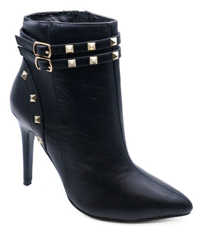 Ladies Studded Stiletto Ankle Boots GSS1026