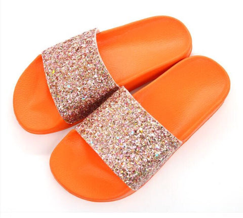 Women's Bling Slides Casual Beach Shoes