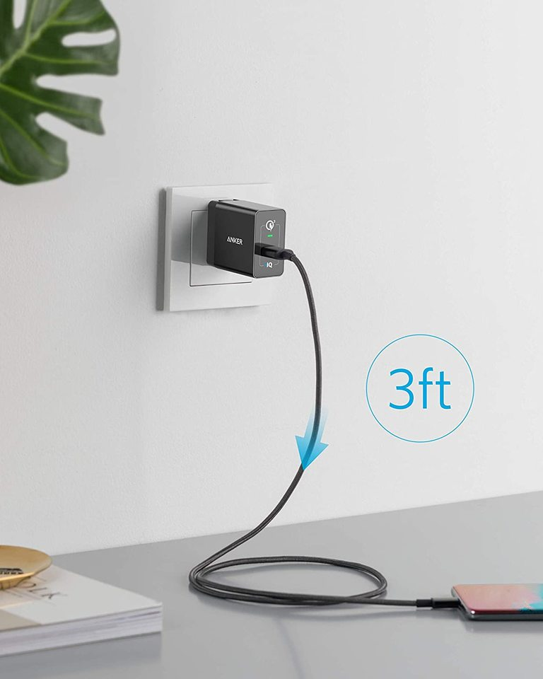 PowerPort+ 1 with Quick Charge 3.0 (USB-A to USB-C Cable Included)