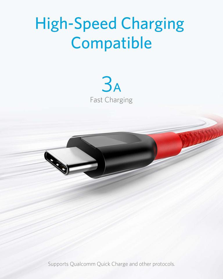 Anker [2-Pack 10ft] Powerline+ USB-C to USB-A
