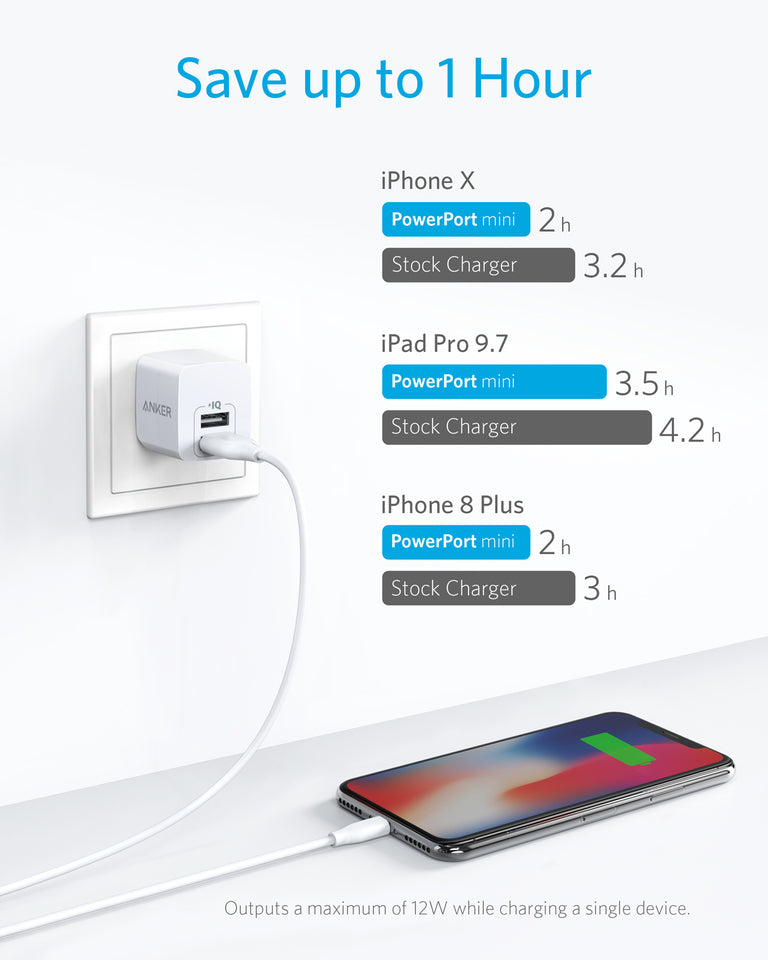 PowerPort Mini Dual Port Wall Charger