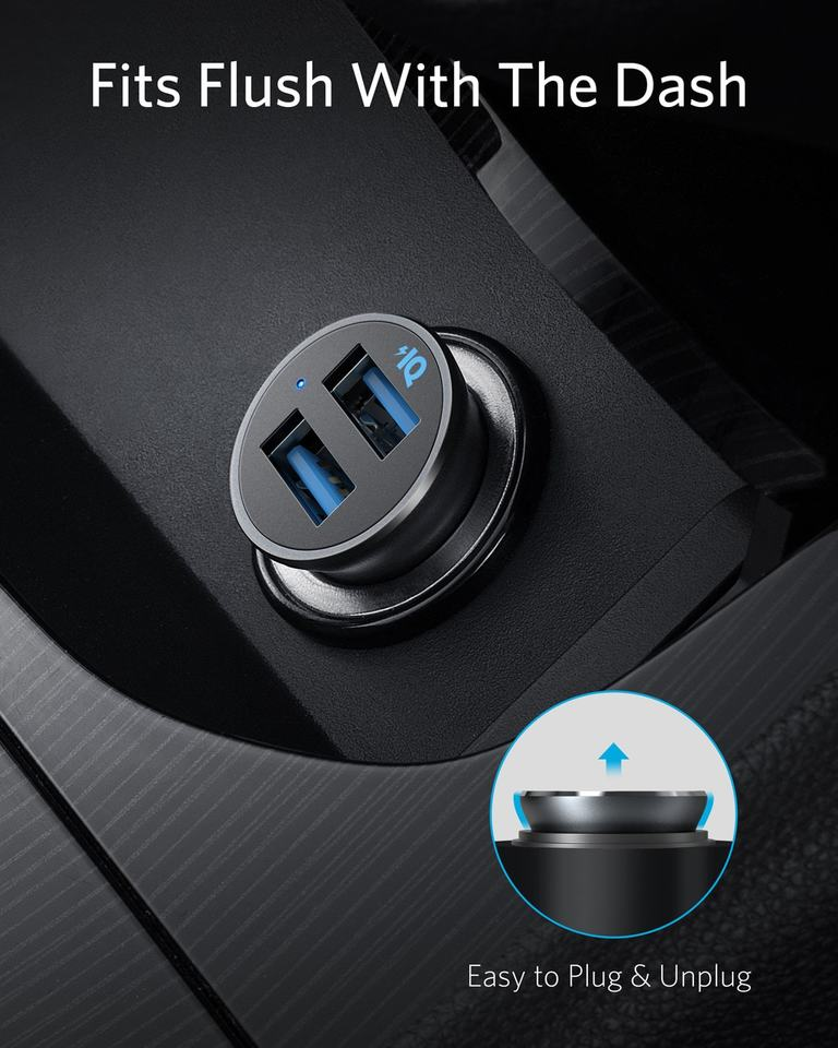 PowerDrive 2 Alloy Metal Mini Car Charger