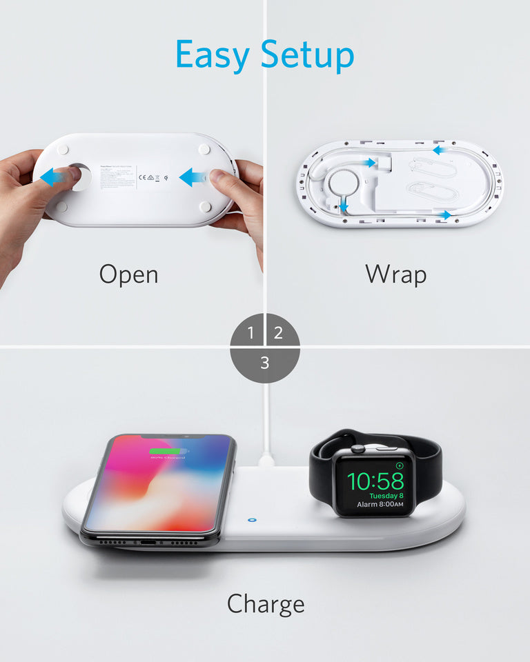 PowerWave + Pad with Watch Holder