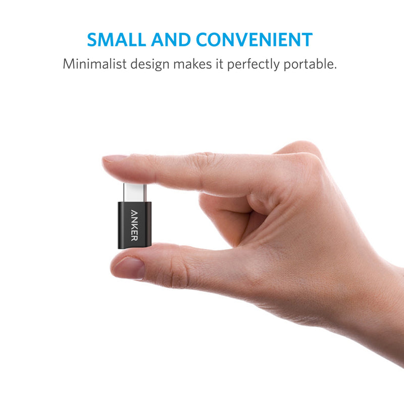 [2 in 1 Pack]  Anker USB-C (Male) to Micro USB (Female) Adapter