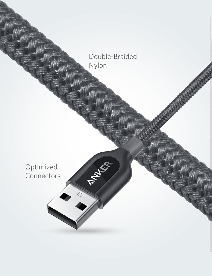 PowerLine+ 3ft USB-C to USB A 2.0