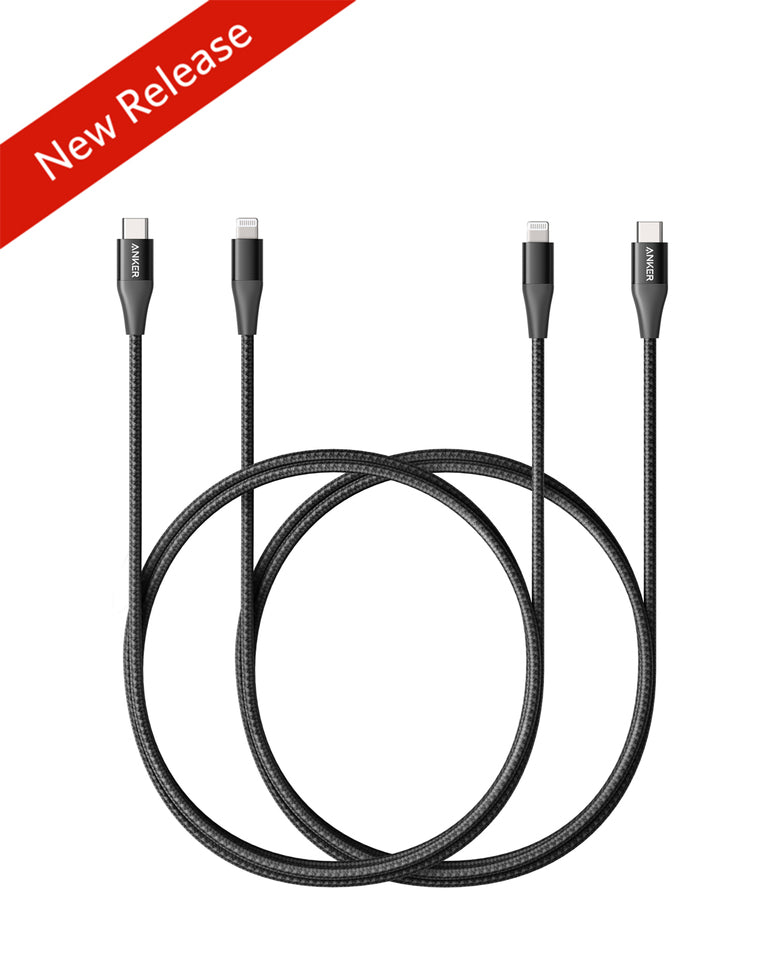 Powerline+ II USB C to Lightning Cable [3 ft, 2-Pack]
