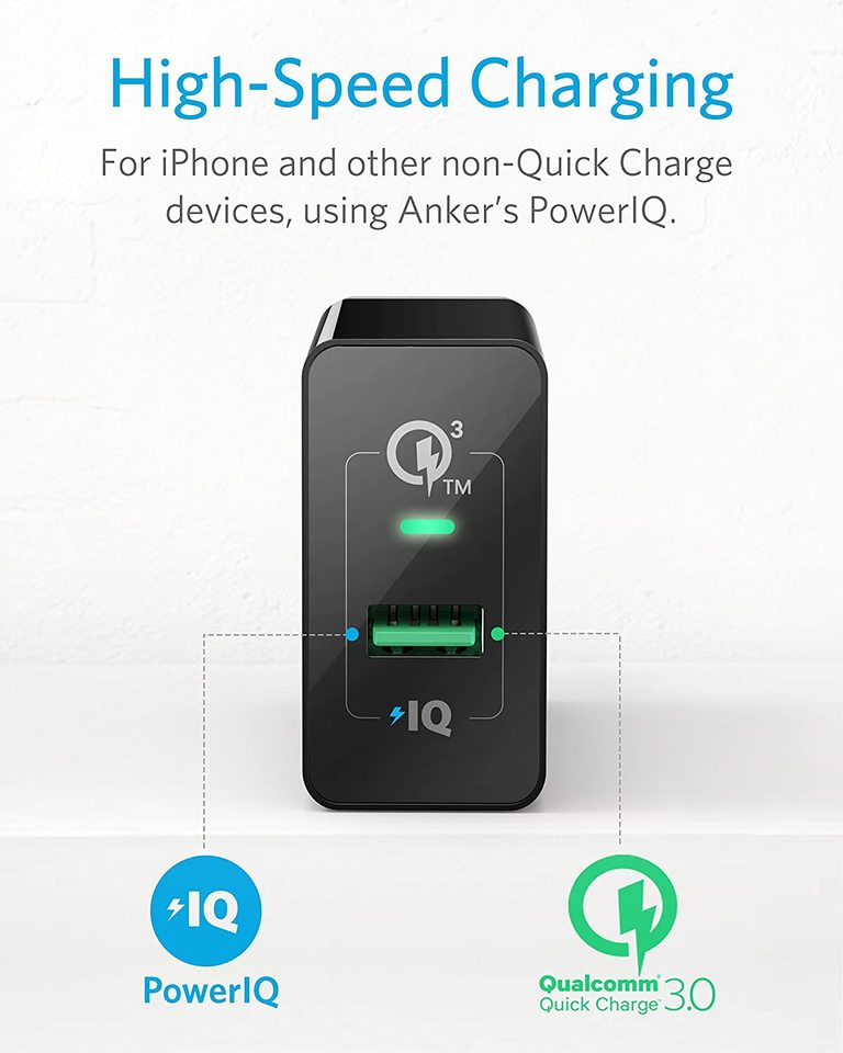 <b>PowerPort</b>+ 1 with Quick Charge 3.0