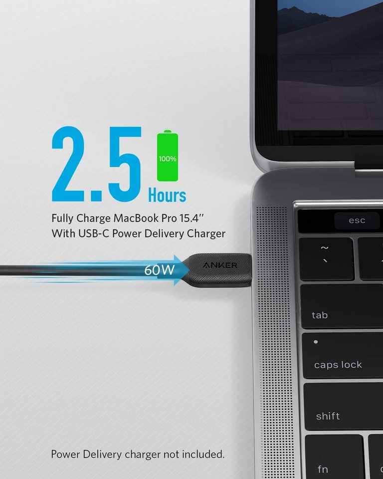 Powerline III USB-C to USB-C Fast Charging Cord (10 ft)