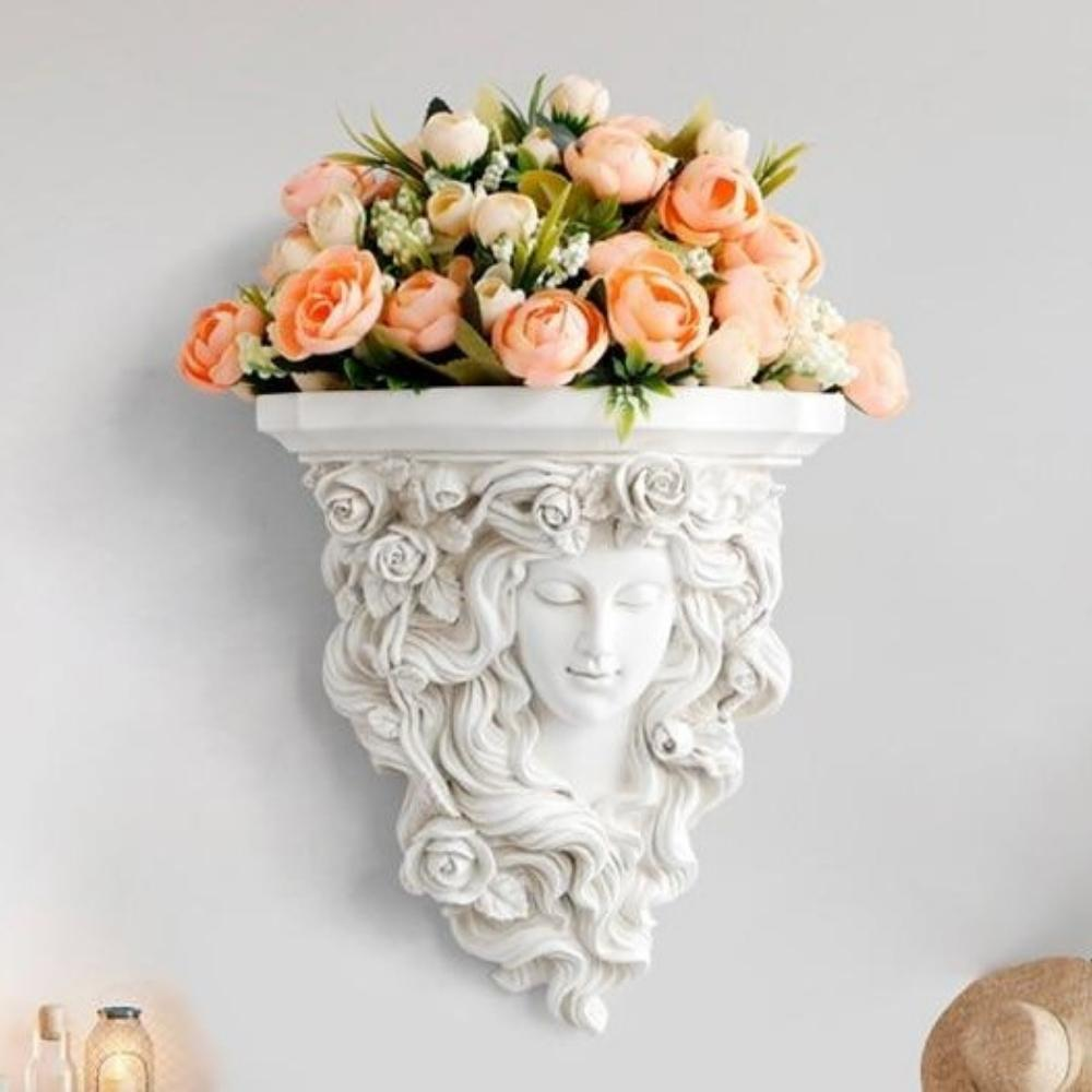Our Goddess Mural Flower Pots will add a touch of European elegance to your home gardening decor. These wall planters can be filled with your favorite greenery and attached to any wall with a study wall fixture. Wonderful accent piece for a vertical wall garden or living wall indoors.
