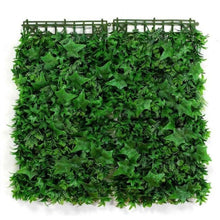 "Load image into Gallery viewer, Artificial grass backdrop for wall landscaping. Create a lush wall landscape and give your home a fresh garden and airy feel with our Artificial Grass Backdrop. Each piece measures 10 x 10"" and can be snapped together to create a piece that is 20 x 20"". Calculate how many pieces you need based on the size of your wall."
