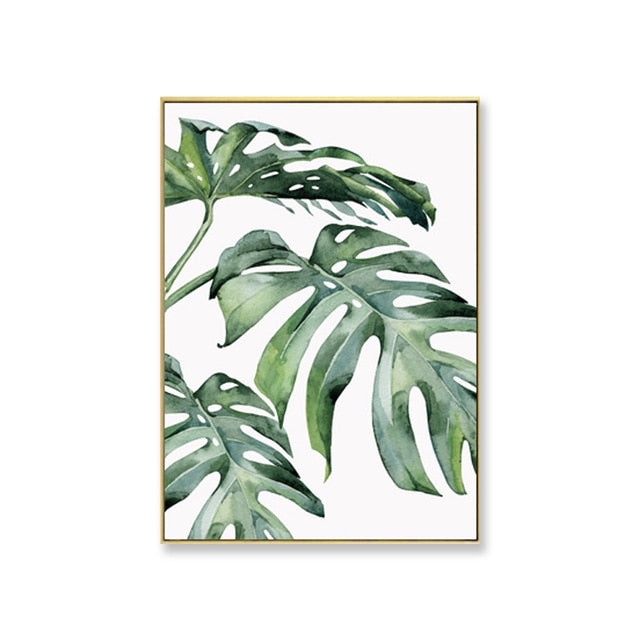Green Leaf Wall Art Prints - Frames not included.  Our green leaf art pieces are printed on high-quality cotton canvas and ready to be framed. Explore a variety of imaginative scenic green leaf abstracts. Create the perfect green wall with beautiful green wall decor.