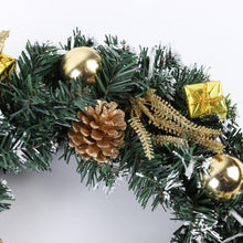 "Load image into Gallery viewer, gold - Green Wall Plants - LED Holiday Wreath - 16"" in diameter for Christmas decorations and thanksgiving day holiday. Place on the front door or over a fireplace. Great outdoor Christmas wreath for windows as well. This is a pre-lit outdoor garland for the holiday season. the wreath is with lights and battery operated"