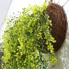Load image into Gallery viewer, These flat back hanging wall baskets are great for hanging real or artificial flowers and plants. Hung from the top handle with a flat backing, these baskets have a small layer of plastic film inside for flower planting. Perfect accessory for green walls, vertical wall gardens & living wall indoors.
