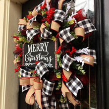 Load image into Gallery viewer, Merry Christmas Wreath