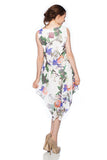 Asymmetrical Hem Printed Floral Dress