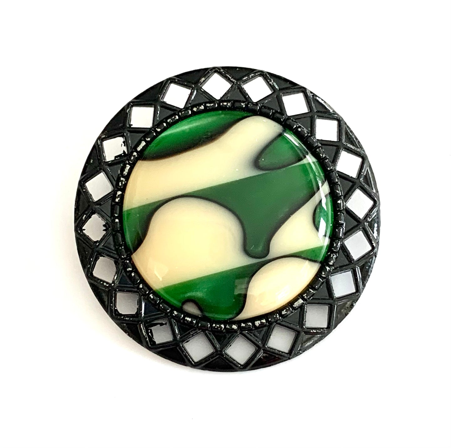 Geo Brooch - Emerald Sands