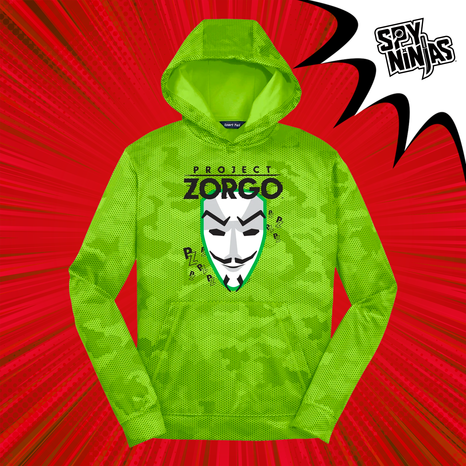 Project Zorgo™ Youth Tech Hoodie - Lime Shock