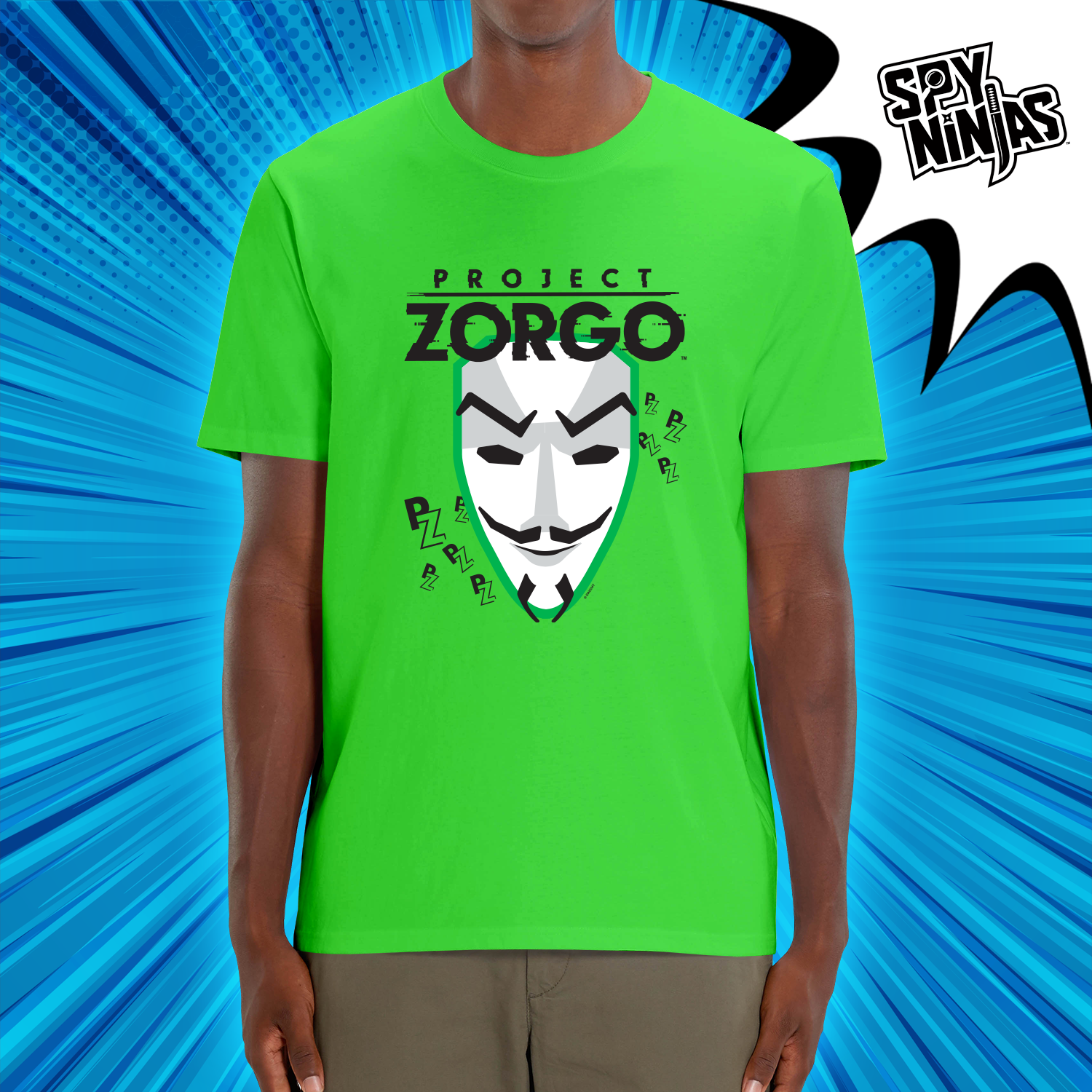 Project Zorgo™ Adult Short Sleeve T-Shirt - Neon Green