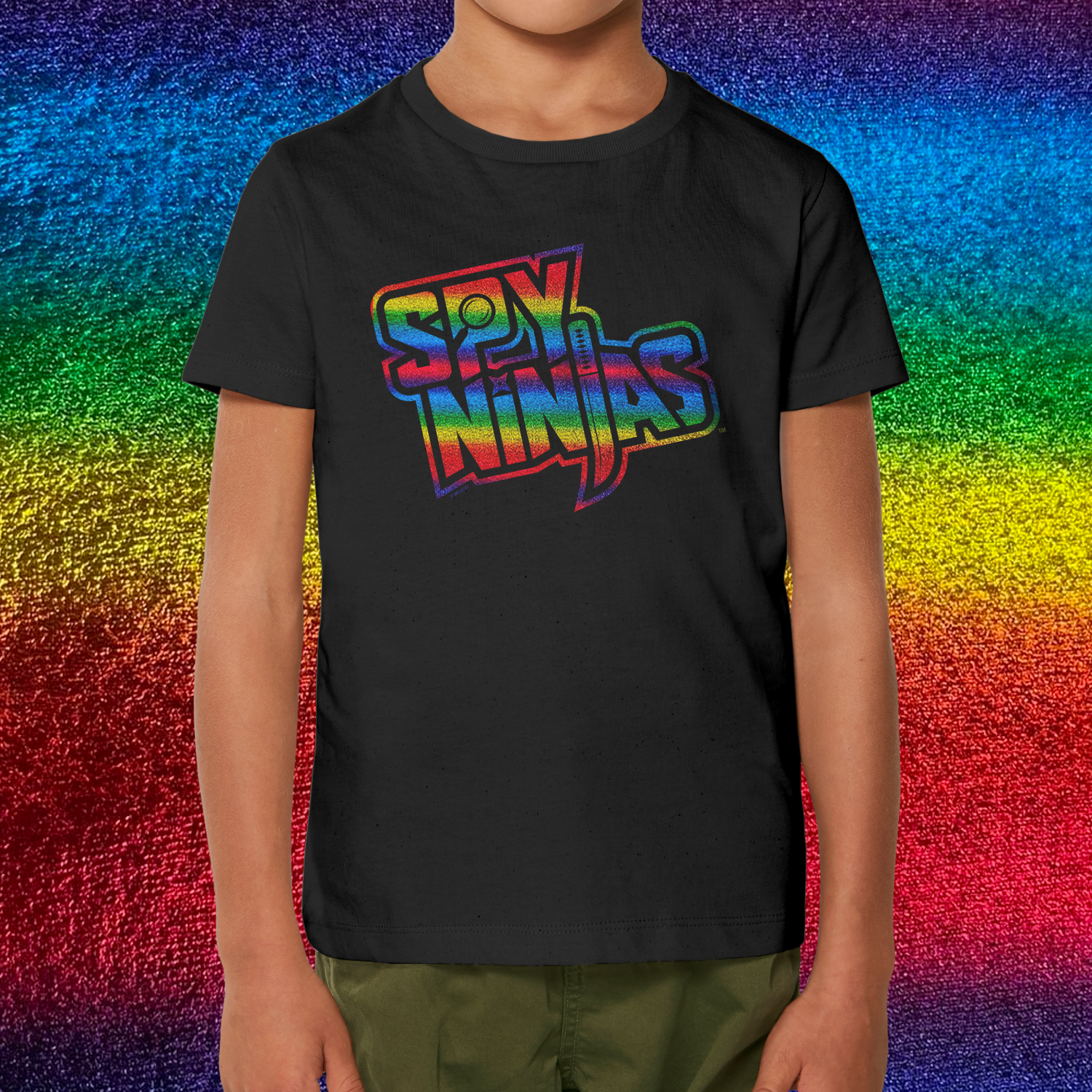 Spy Ninjas Foil Youth SS T-Shirt - Black