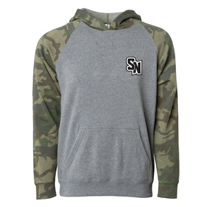Spy Ninjas LCP Youth Camo-Sleeve Hoodie - Grey Body / Camo