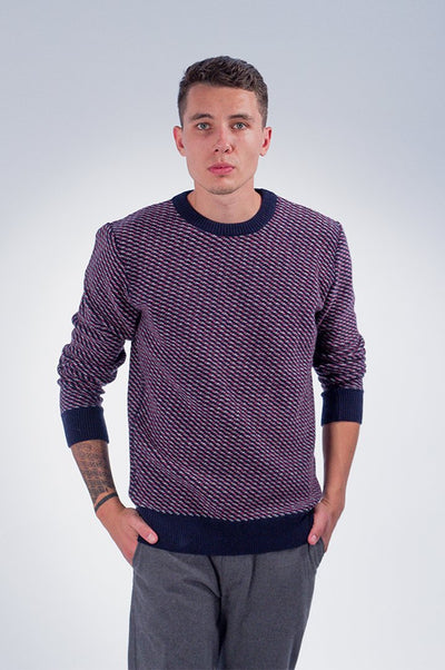 Diagonal 3 Color Knit - COPE
