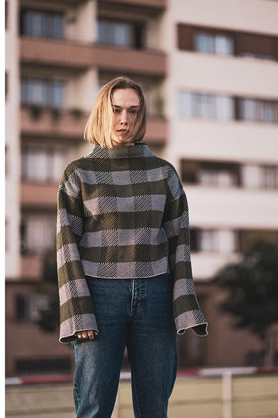 Jacquard Knit Jumper - COPE