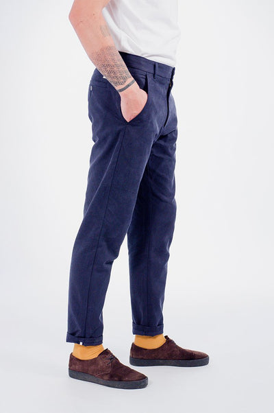 Japanese Tencel Pants Modré - COPE