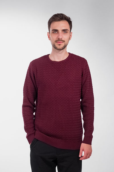 Small Diamond Knit Vínový - COPE