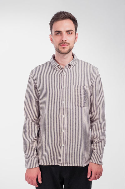 Striped Wool Twill - COPE