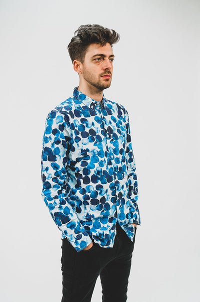 Water Dot Shirt Blue - COPE