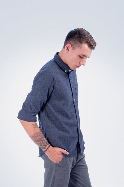 Wool Herringbone Shirt - COPE