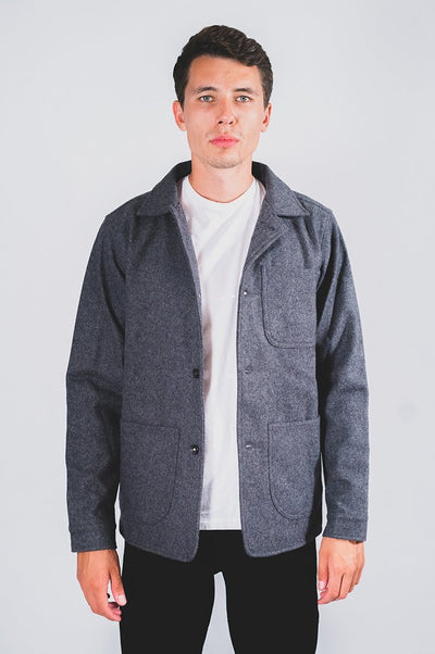 Wool Utility Jacket Šedá - COPE