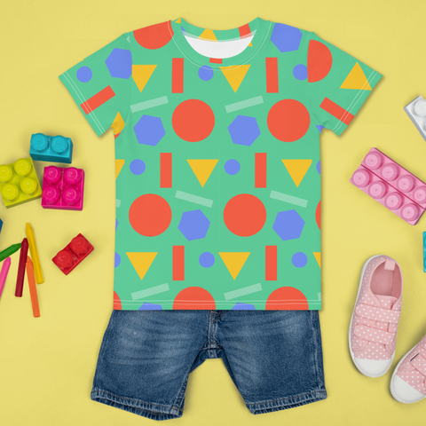 Geometric Joy Kids Unisex All Over T-Shirt