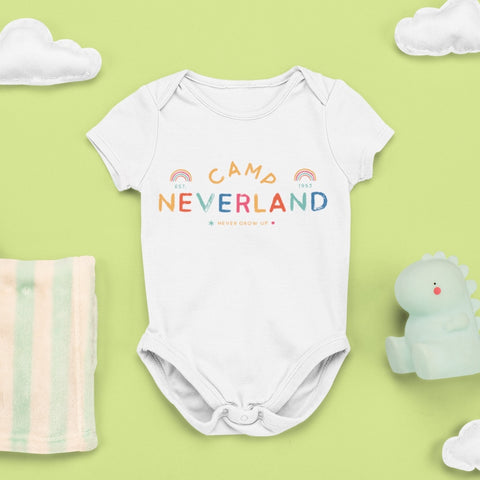 Camp Neverland Baby Onesie