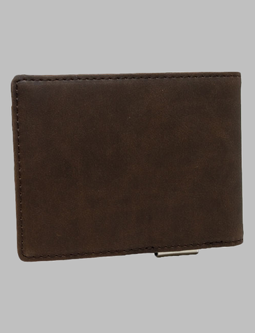 Brown Leather Wallet Back