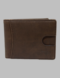 Brown Leather Wallet Front