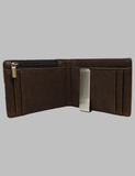 Brown Leather Wallet Inside
