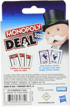 Load image into Gallery viewer,  Hasbro Monopoly Deal Card Game online. The Monopoly Brand Deal Card Game is all the fun of the Monopoly game in a quick-playing card game. It comes with 110 cards including Property Cards.