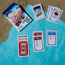 Load image into Gallery viewer, The fun of a monopoly game played with cards. Kids Family Night games Table cards