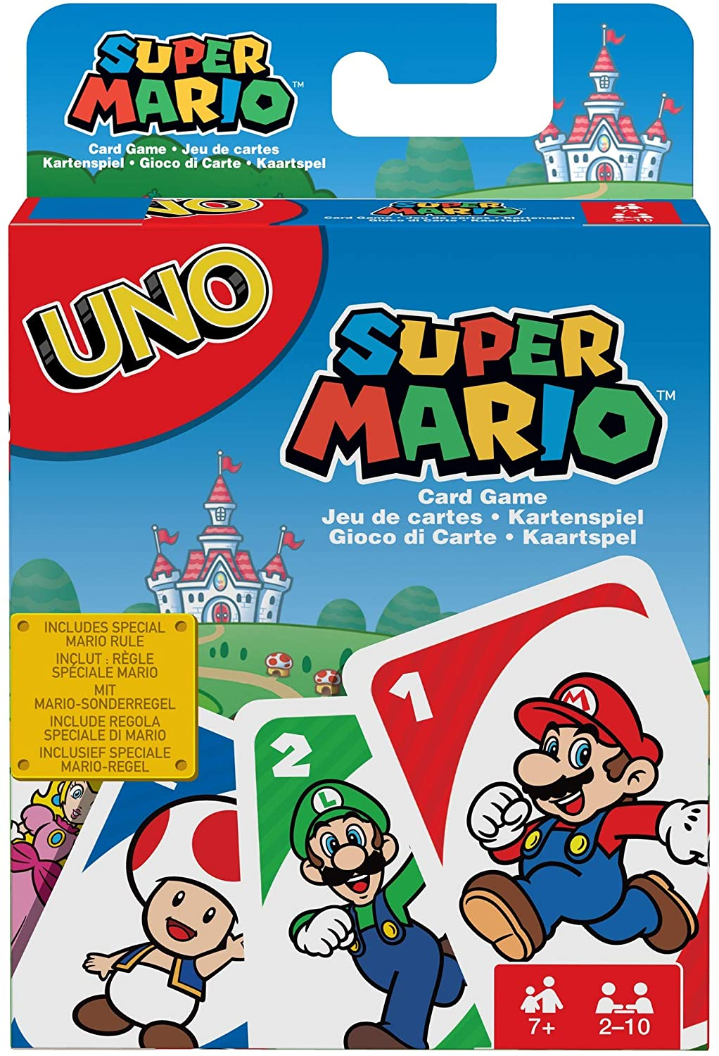 Mattel Games UNO Super Mario The classic matching card game, now with a Super Mario Bros theme.