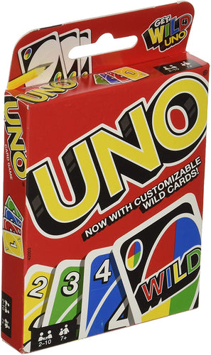 UNO is the classic and beloved card game that's easy to pick up and impossible to put down! Players take turns matching a card in their hand with the current
