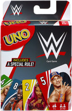 Load image into Gallery viewer, Mattel Games UNO WWE Now you can play UNO in the company of your favorite WWE characters!