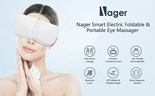 Nager Electric Foldable & Portable Eye Massager - White