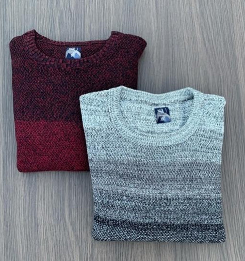 CREW NECK TEXTURE KNIT JUMPER