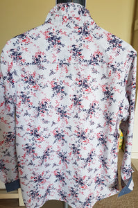 RED FLORAL PRINT LONG SLEEVE SHIRT